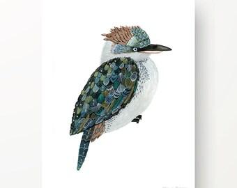 Watercolour print-Kookaburra