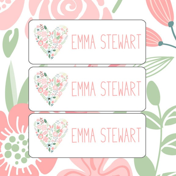 School Labels Girl Daycare Name Labels Bottle Labels