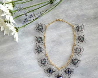 Swarovski Stone Adorned Statement Necklace