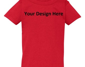 Toddler Custom Embroidered T-Shirt--More Colors