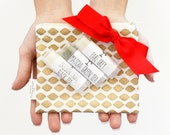 Coffee or Tea Lip Balm Gift Set with Gold Zipper Pouch, Gift For Her, Valentine's Day Gift,  Bath and Body
