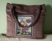 Purple heather color fairy tote bag