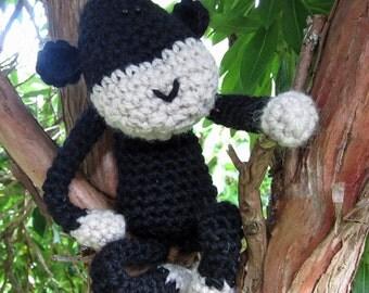 Ollie - a hand crocheted chimp!