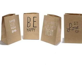 Printed Bags Natural Paper 20 pcs.