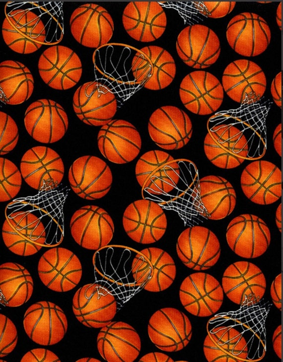 Basketball Cotton Fabric From Timeless Treasures Sport