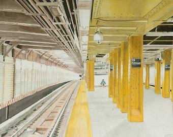 Manhattan Subway L Train  New York 11 x 14 print