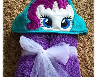 My Little Ponies Rarity Hooded Towel