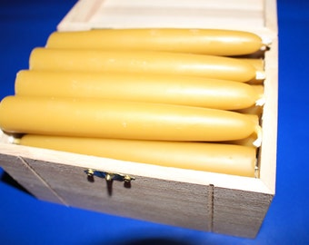 """20 Organic Beeswax candles 5"""" long and 7/8"""" in diameter. FREE SHP"""
