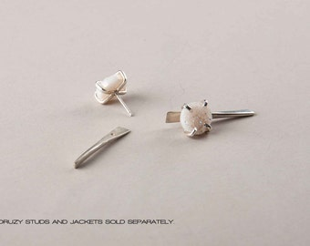 silver or gold-fill spike earring jacket // geo collection from Haley Lebeuf