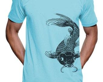 Mens Koi Fish T Shirt - American Apparel TShirt - XS S M L Xl and Xxl (Color Options)