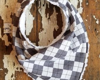Baby Bandana Bibs - Set of 3 Bandanna Bibs - You Choose Fabrics to Design Your Own - Drooling bib