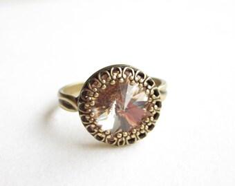 Ring,rings,vintage style ring,boho ring,Crystal ring,adjustable ring,verstellbarer ring,