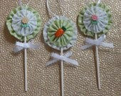 Set of 3 Easter Lollipop Ornaments for Spring Trees