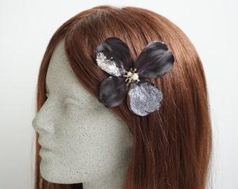 Black Dogwood Hair Clip (HC139)