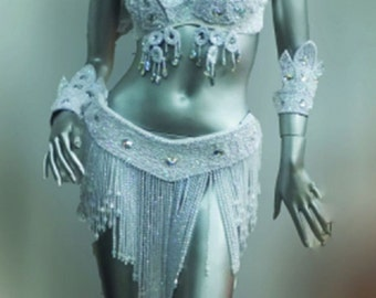 Parade Showgirl Brazil Samba Angel Bra Belt Costume XS-XL