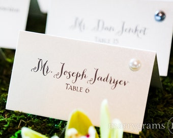 Wedding escort cards etsy wedding place cards fancy folded wedding escort cards affordable simple elegant junglespirit Gallery