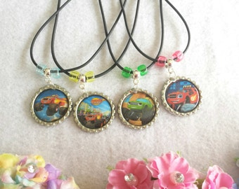 10 Blaze and the Monster Machines Necklaces Party favors.