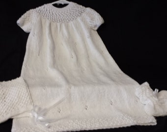 Christening Gown with Bonnet and Booties