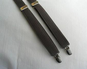 Brown Herringbone Braces, Brown Herringbone Suspenders, Brown Toddler Suspenders, Ring Bearer Suspenders,  Wedding Herringbone Suspenders