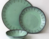 Set of 4 Dinnerware Place Settings in Aqua Mist - Order will be PICKED UP - Order 2