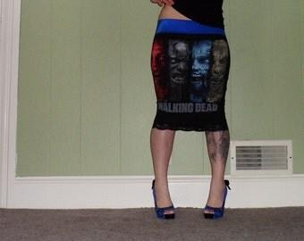 Walking Dead - Rotting Zombies - Black Pencil Skirt