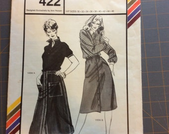 Stretch and Sew 422 Misses Sport Skirts Vintage Ann Person