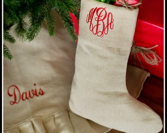 Personalized Tree Skirt - Personalized Christmas Tree Skirt - Monogrammed Tree Skirt - Quick Shipping