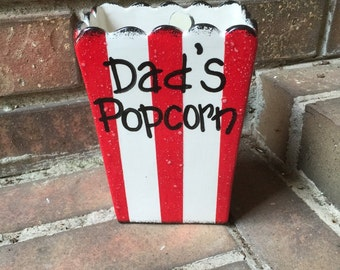 Personalized Individual Square Popcorn Bowl