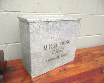 Wild Rose Farm Milk Delivery Porch Box Andover Ma Shawsheen Village - Textured Aluminum & Insulated