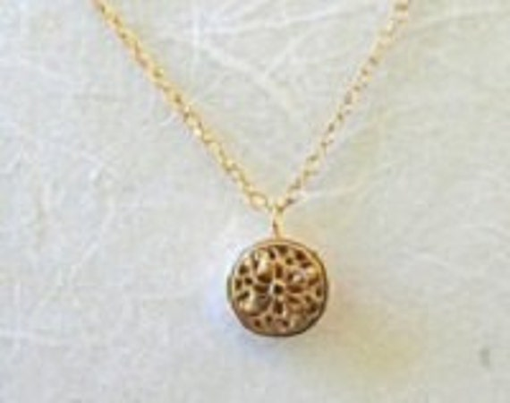 14K Gold Filled Daffodil Necklace