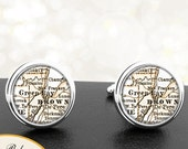 Cufflinks Green Bay WI Handmade Cuff Links City State Maps Wisconsin Groomsmen Wedding Party Fathers Dads Men