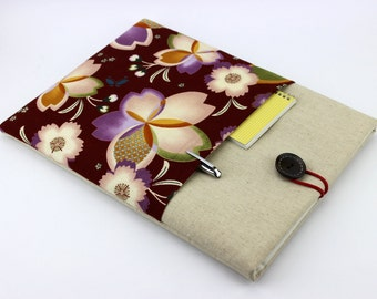 15 Laptop Sleeve ,14 Inch Laptop Case ,Dell Inspiron Case ,Hp Pavilion Case Cherry Blossoms Red Pink 2 colors