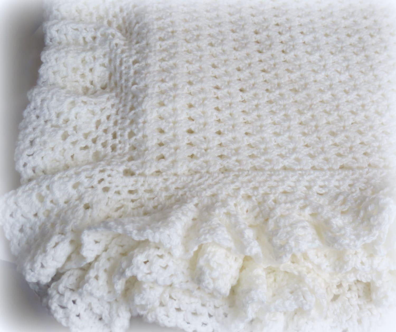 Crochet Baby Blanket Lace Pattern : Crochet Baby Blanket Pattern - Heirloom Lace