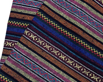 Thai Woven Fabric Tribal Fabric Native Fabric by the yard Ethnic fabric Aztec fabric Craft Supplies Woven Textile 1/2 yard (WF97)