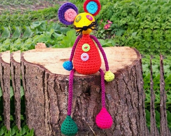 US Crochet Pattern for Leftovers Larry Mouse
