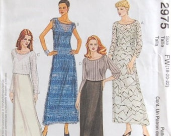 Easy McCall's 2975 Dress Pattern Size 18, 20, 22 UNCUT