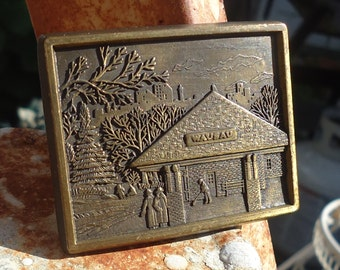 Vintage Brass Wausau Belt Buckle