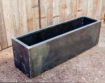 Oakmont Trough Planters Steel Metal