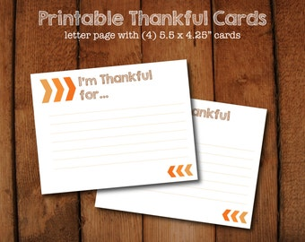 I'm Thankful for... November Thanksgiving Game Cards - Instant Download - Thanksgiving Dinner Game