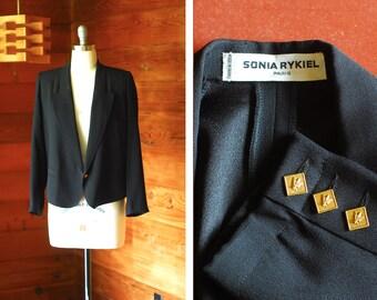 vintage Sonia Rykiel black blazer / size medium