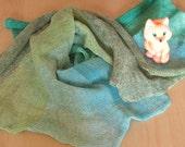 Baby Blankets Linen Knitting Blanket Unisex Baby Blanket Neutral Baby Blanket Baby Girl Baby Boy Crib Blanket Green Moss Azure