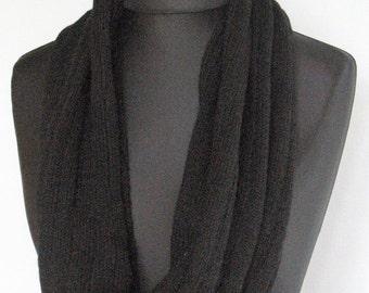 Black Infinity Scarf Cowl Wrap