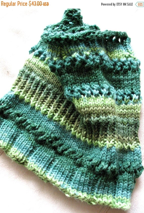 Striped Infinity Scarf Cowl Wrap Black Beige Brown Moss Salad Green Blue green