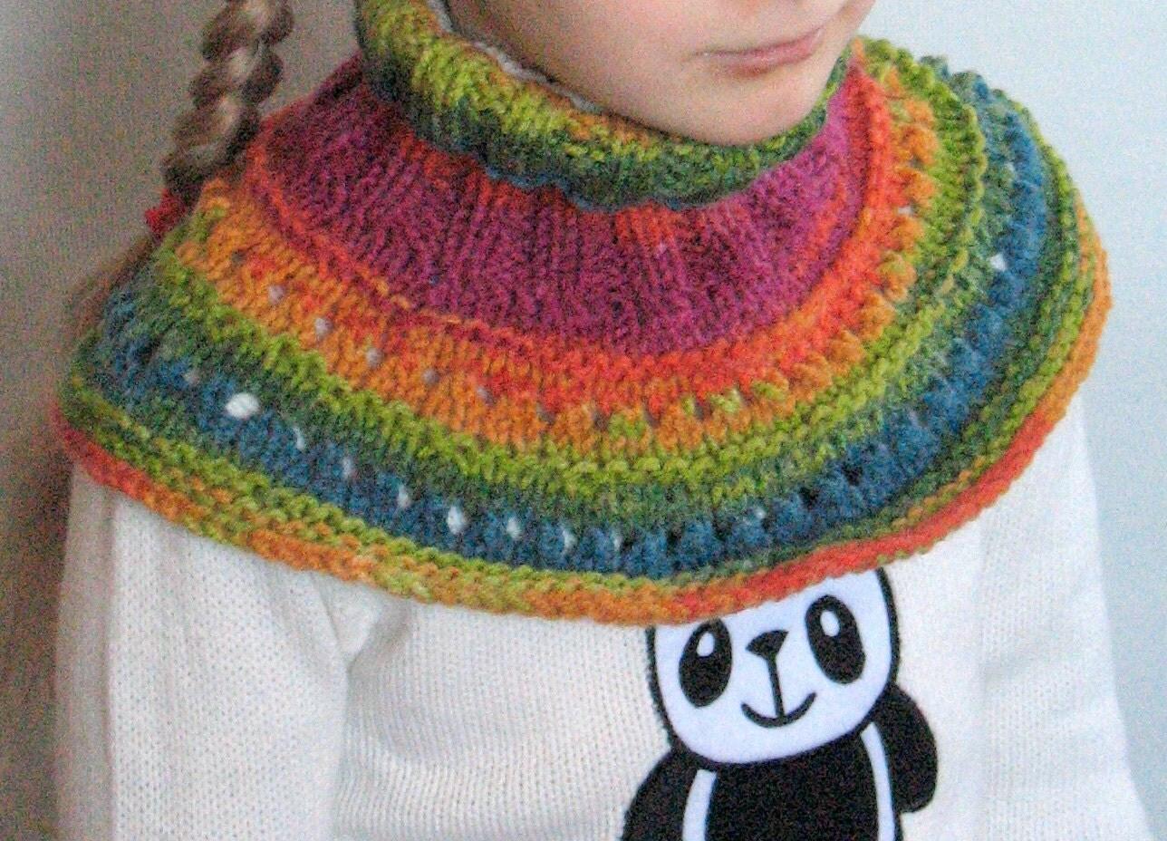 Knitting Pattern For Toddler Neck Warmer : Baby Scarf Bib Knit Baby Neck Warmer Toddler Neckwarmer Vegan