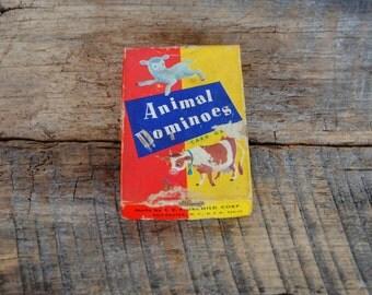 Vintage Animal Dominoes By E.E. Fairchild Corp Rochester NY