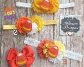 Halloween Headbands, Candy Corn Headbands, Toddler Headbands,Fall Headband,Infant Headbands, Halloween Clip