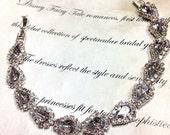 Bridal bracelet, Wedding jewelry,bridal jewelry, bridesmaid bracelet, white rhinestone bracelet, crystal bracelet