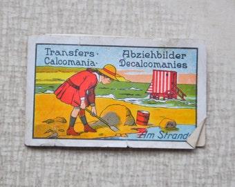 Antique 1930's German stickers.