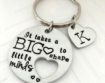 Teacher appreciation gift ideas - Personalized Teacher Gifts - It takes a BIG heart to shape little minds - Teacher Gift - The Charmed Wife