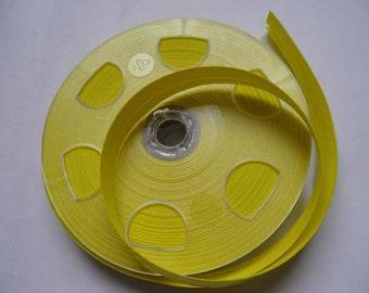 Biais coton replié – jaune vif – 3m